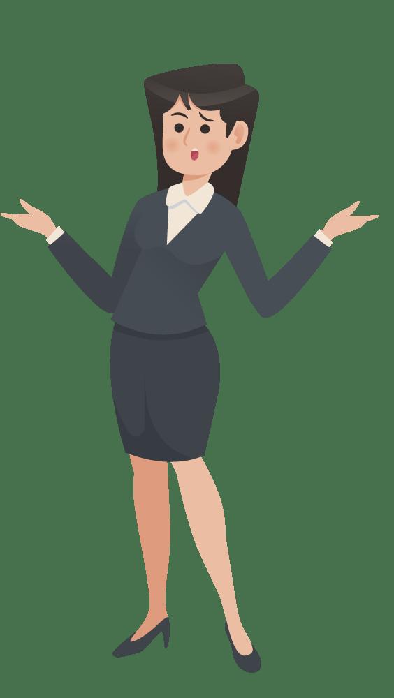 Career Elevator Confused Woman